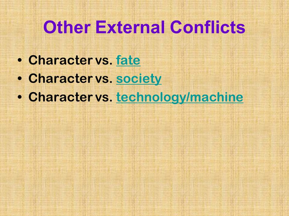 And Internal Literature External Conflicts