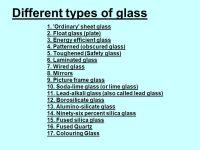 GLASS Glass- not just a functional material to let light ...