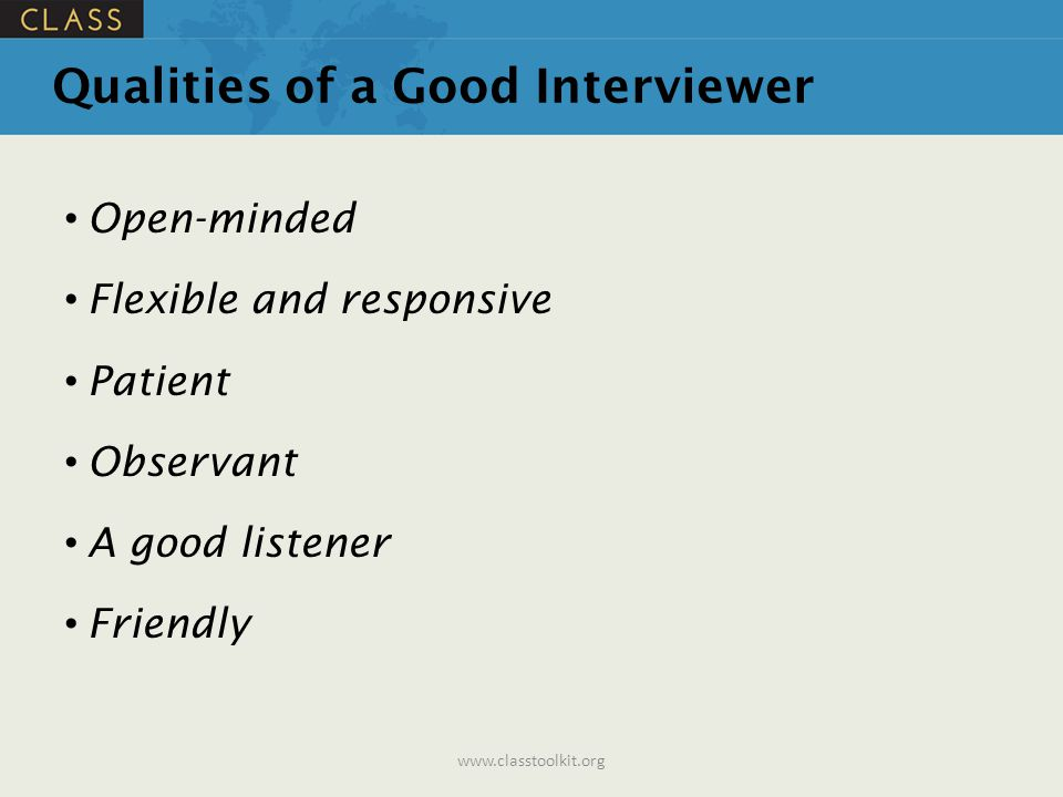 Conducting an Effective Interview  ppt download