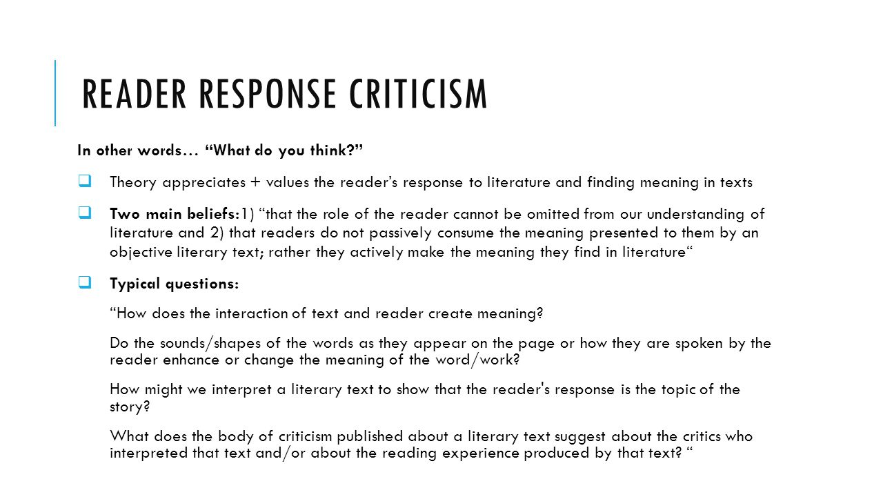 Reading Response Journal Template