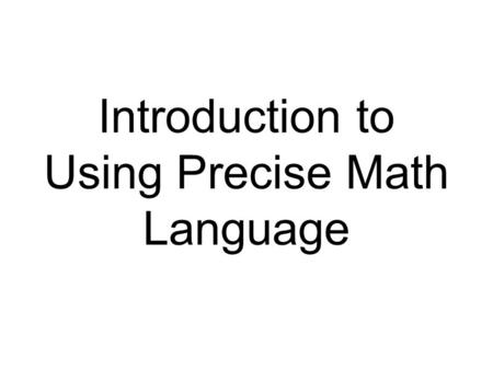 Introduction to Semantic Mapping. What is Semantic Mapping