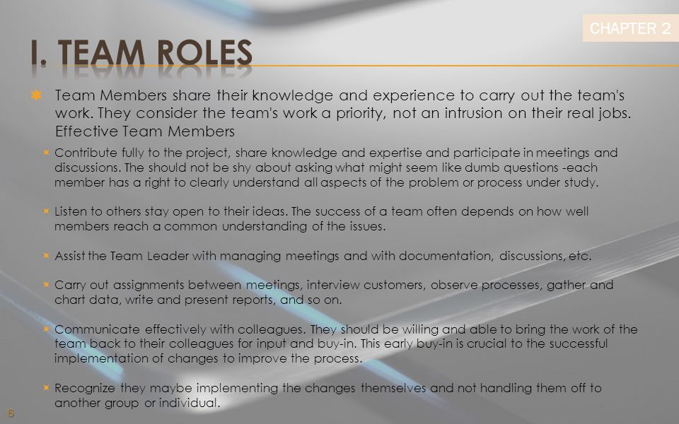 Chapter 2 Team Roles & Responsibilities Ppt Download