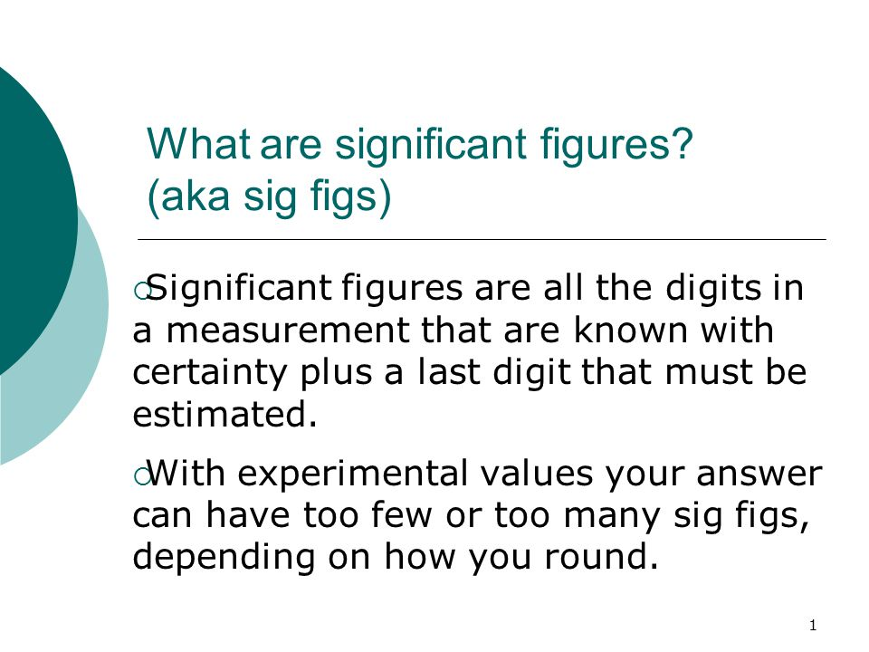 What Are Significant Figures Aka Sig Figs Ppt Video