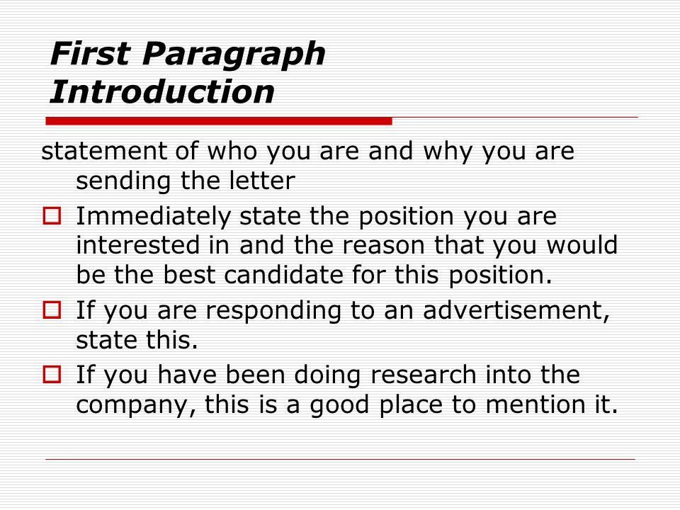 Cover Letters  ppt download