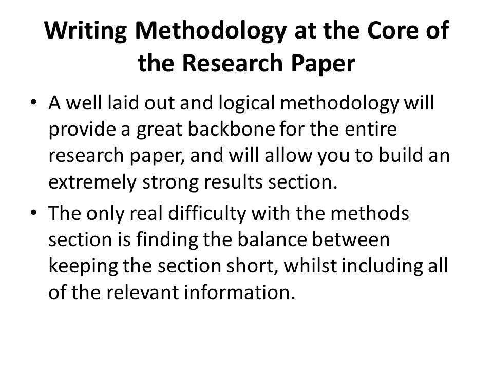 Writing Methodology Ppt Video Online Download