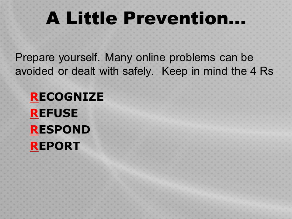 The Plan Today you will be learning about personal safety