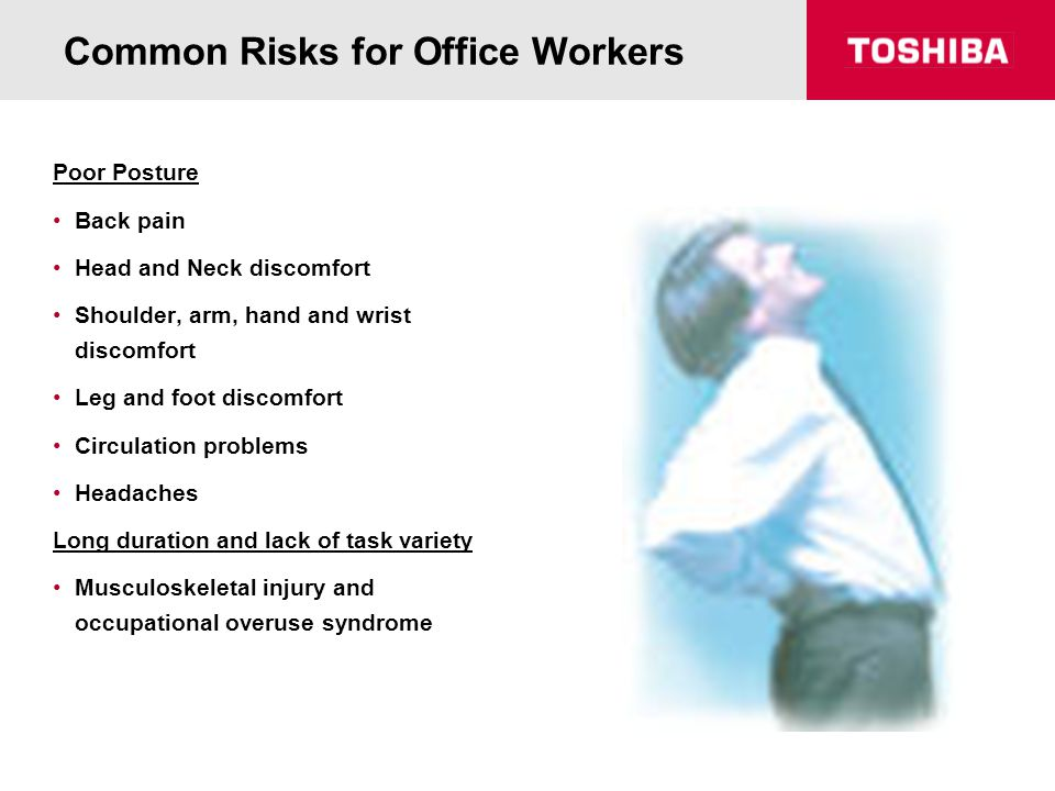 desk chair for back pain lowes white plastic lounge chairs workstation ergonomics - ppt video online download