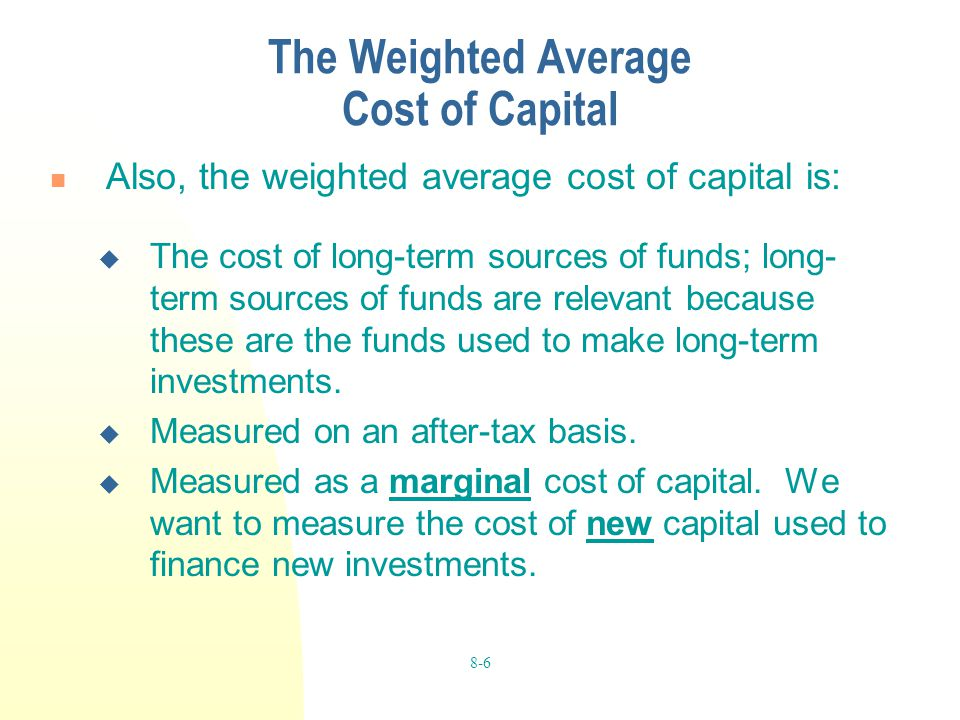 Chapter 8 Cost of Capital  ppt video online download