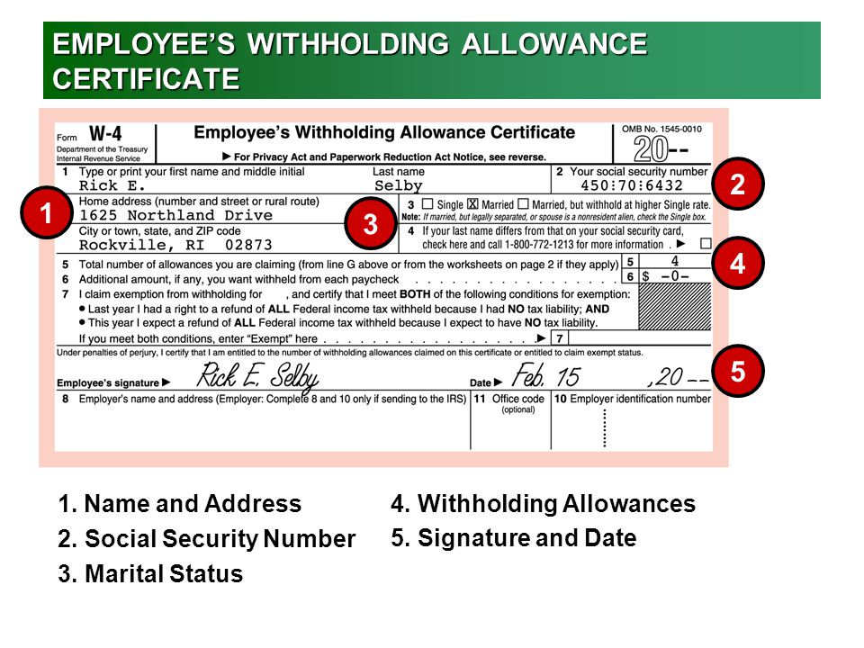 Withholding Ny Employee Allowance Certificate
