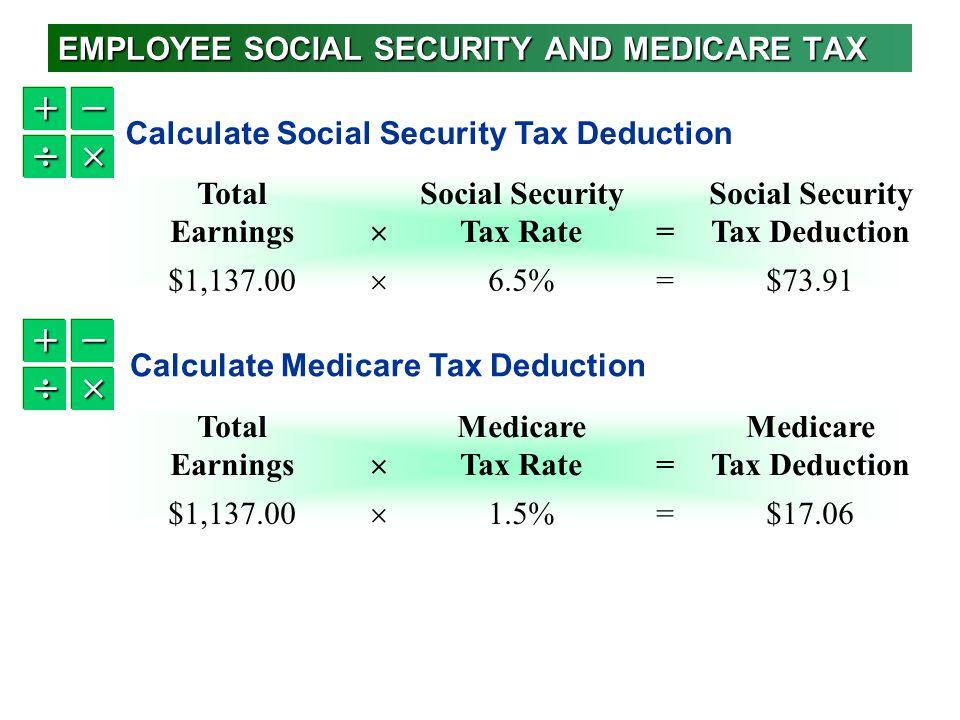 calculate employee taxes