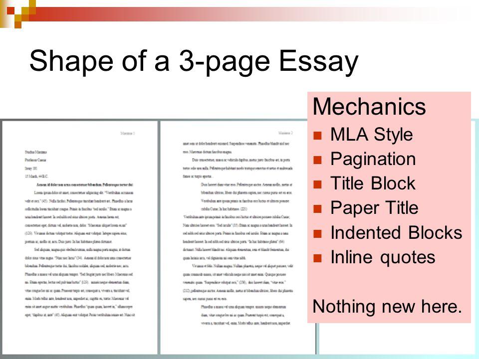 academic essay title