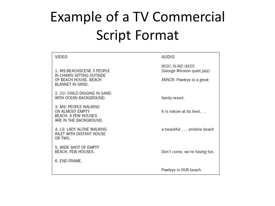 Sample script storyboard design templates for Tv commercial script template