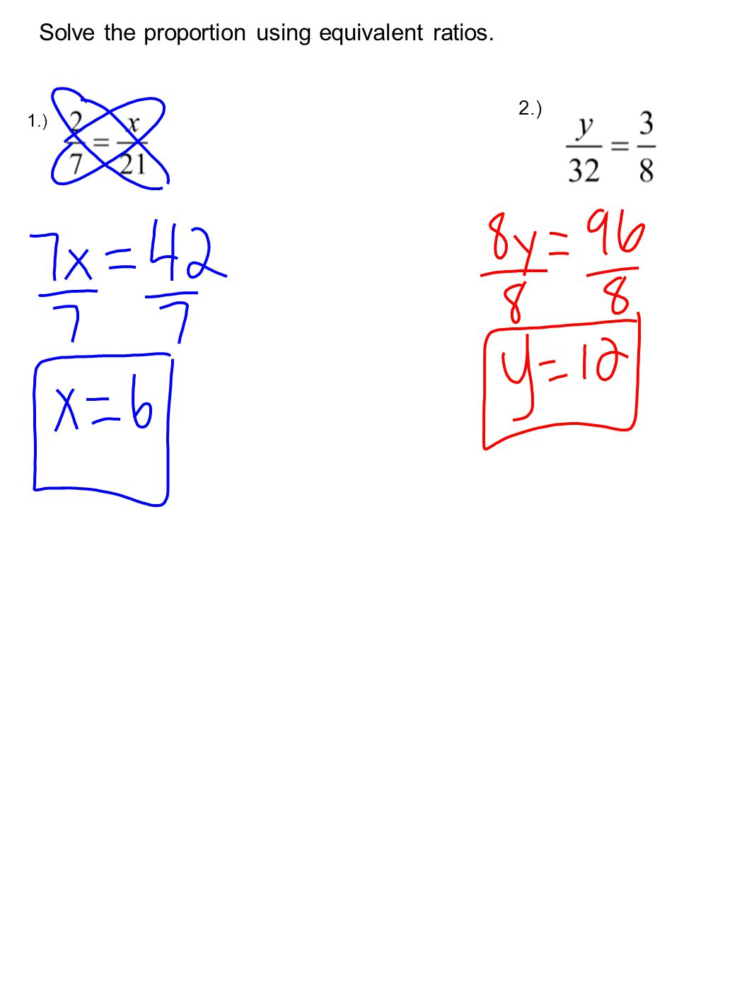6 2 Solving Proportions 1