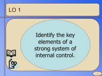 Identify the key elements of a strong system of internal ...