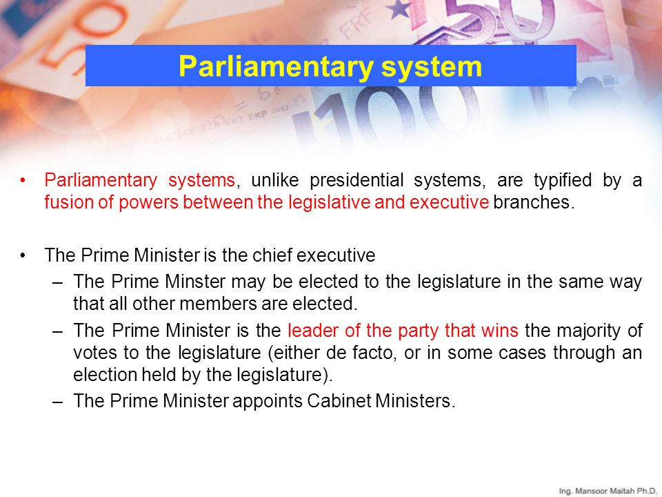 Attractive In A Parliamentary System From Where Are Cabinet Members Drawn
