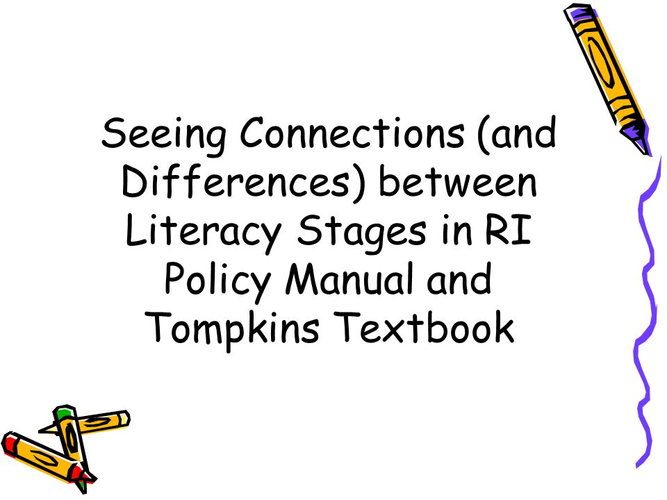 Emergent Literacy, Concepts of Print, and Stages of