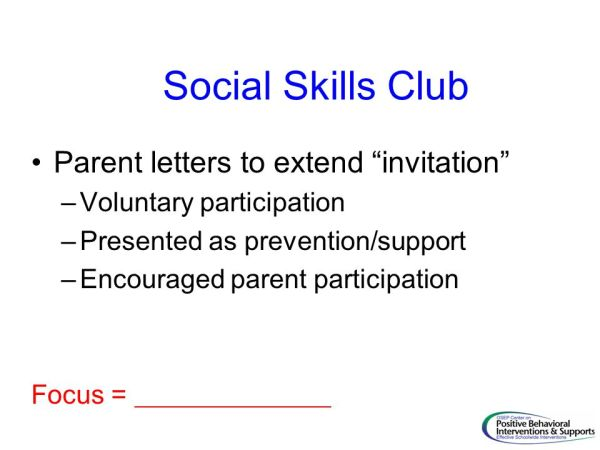 Teaching Social Skills The Cornerstone of MBI ppt download