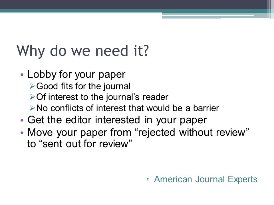 Writing Cover Letters for Scientific Manuscripts  ppt