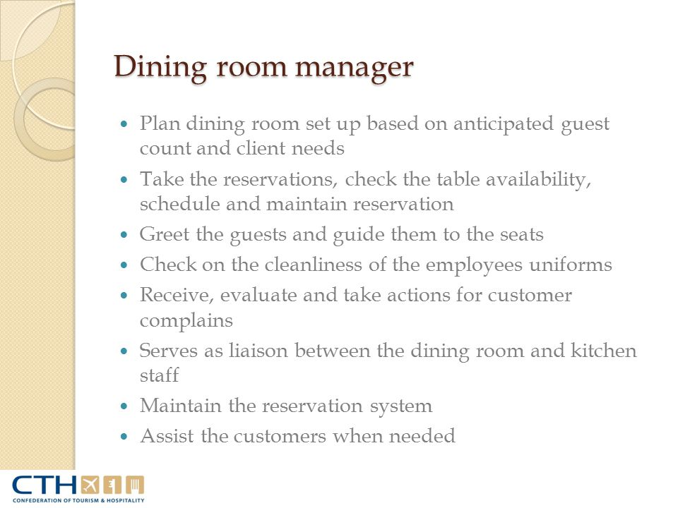Food and Beverage Operations  ppt video online download