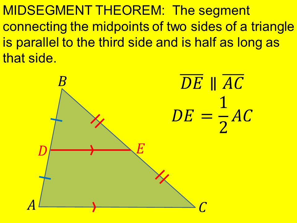 Midpoints Triangle Theorem