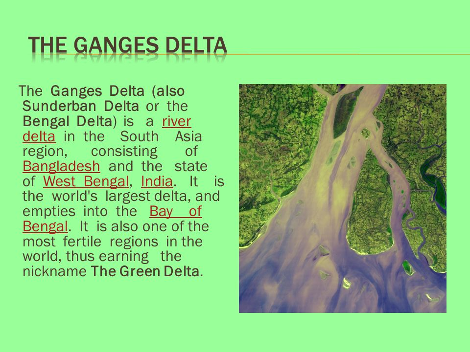 Ganges River Delta India