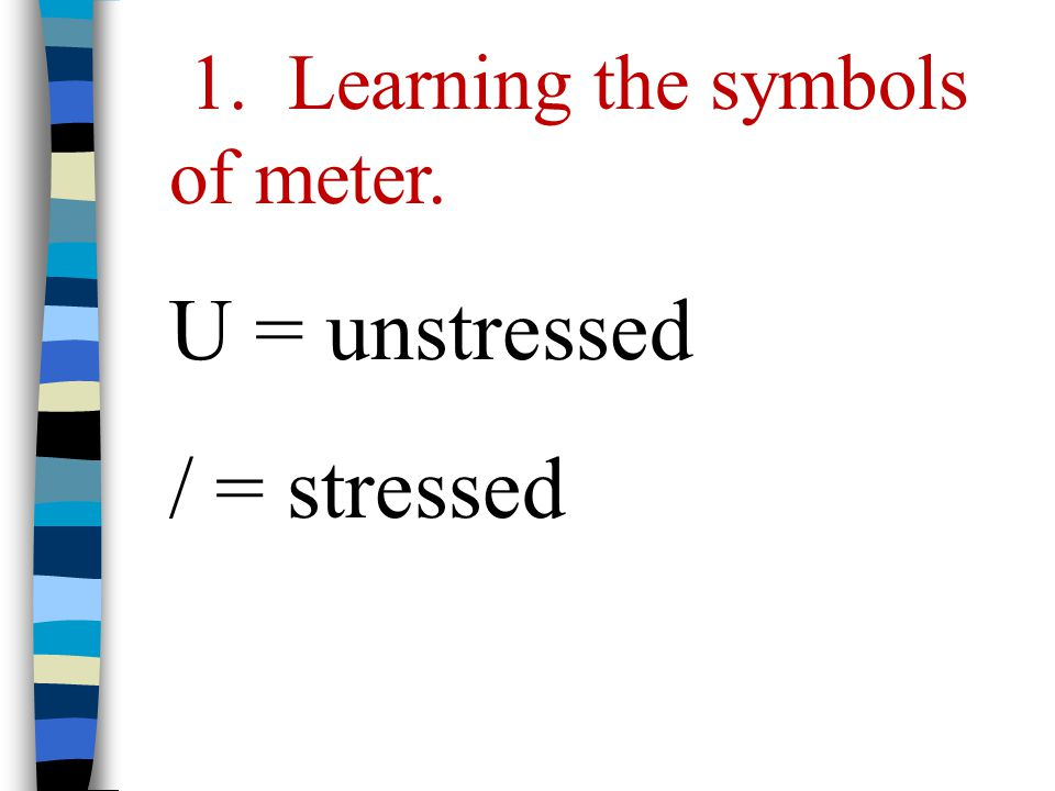 Stressed Syllable Symbol