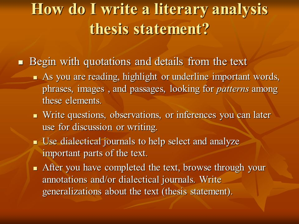 Literary Analysis Middle School Ppt Video Online Download