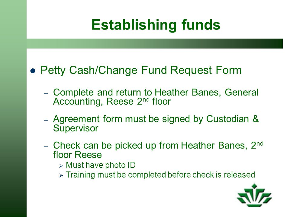 Petty Cash Request Form