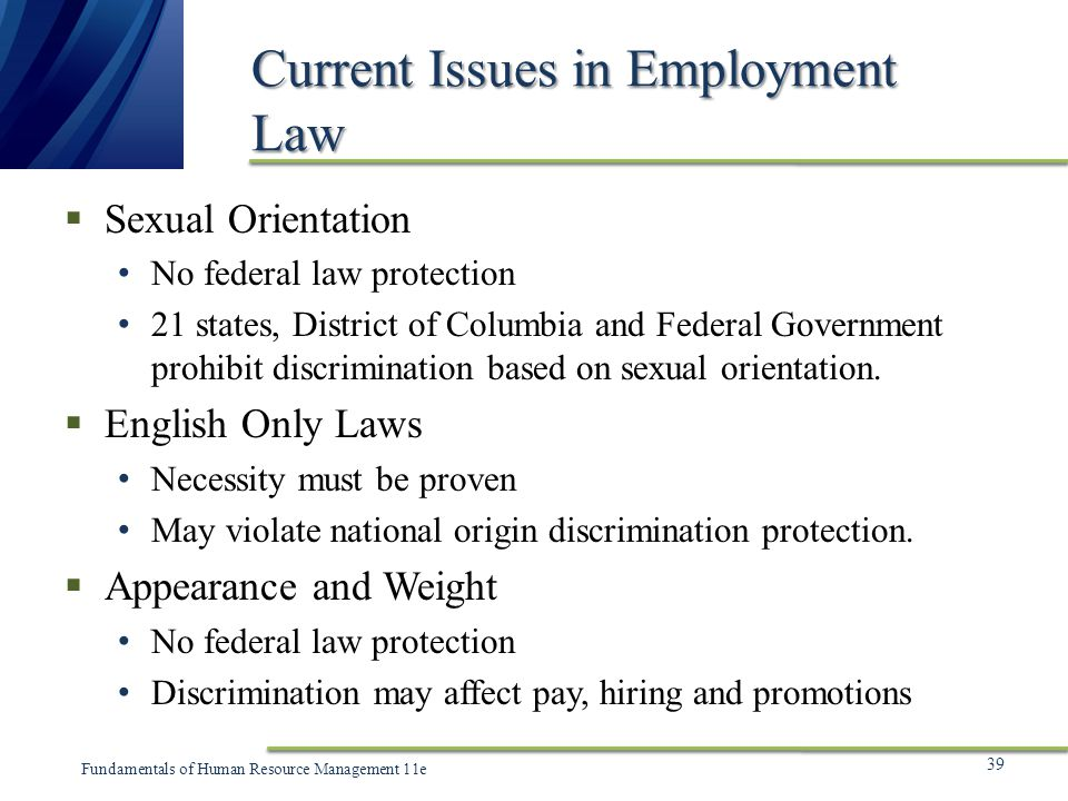 Employment Federal Protection
