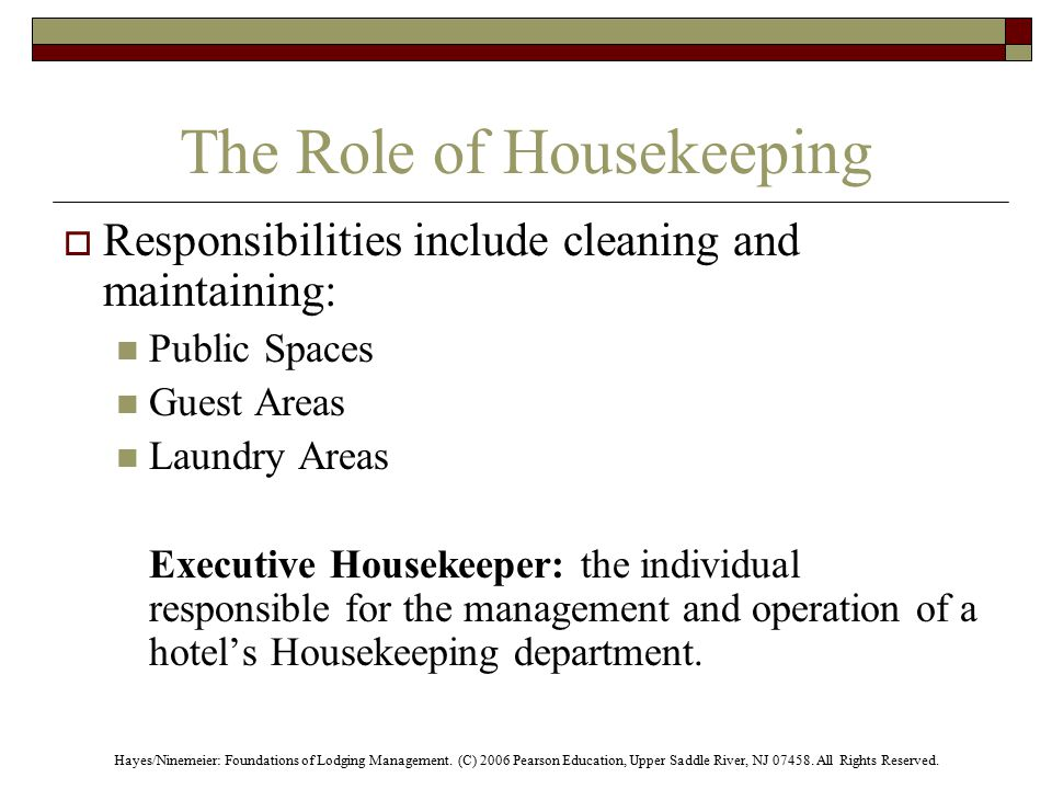The Housekeeping Department  ppt video online download