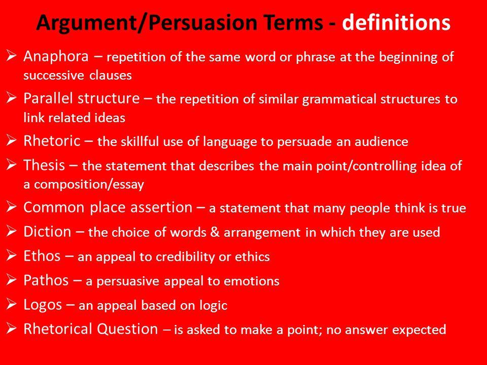 argument and persuasion essay examples