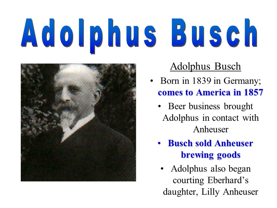 Adolphus Busch Iii Business Person