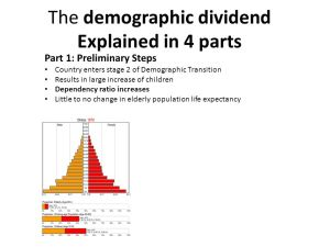 China's Demographic Dividend  ppt download