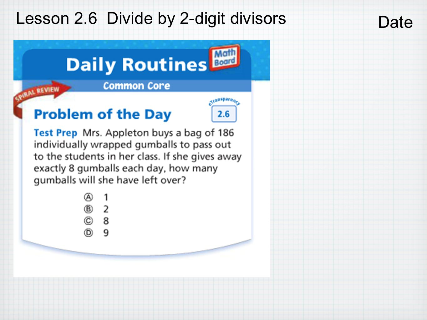 Chapter 2 Divide Whole Numbers