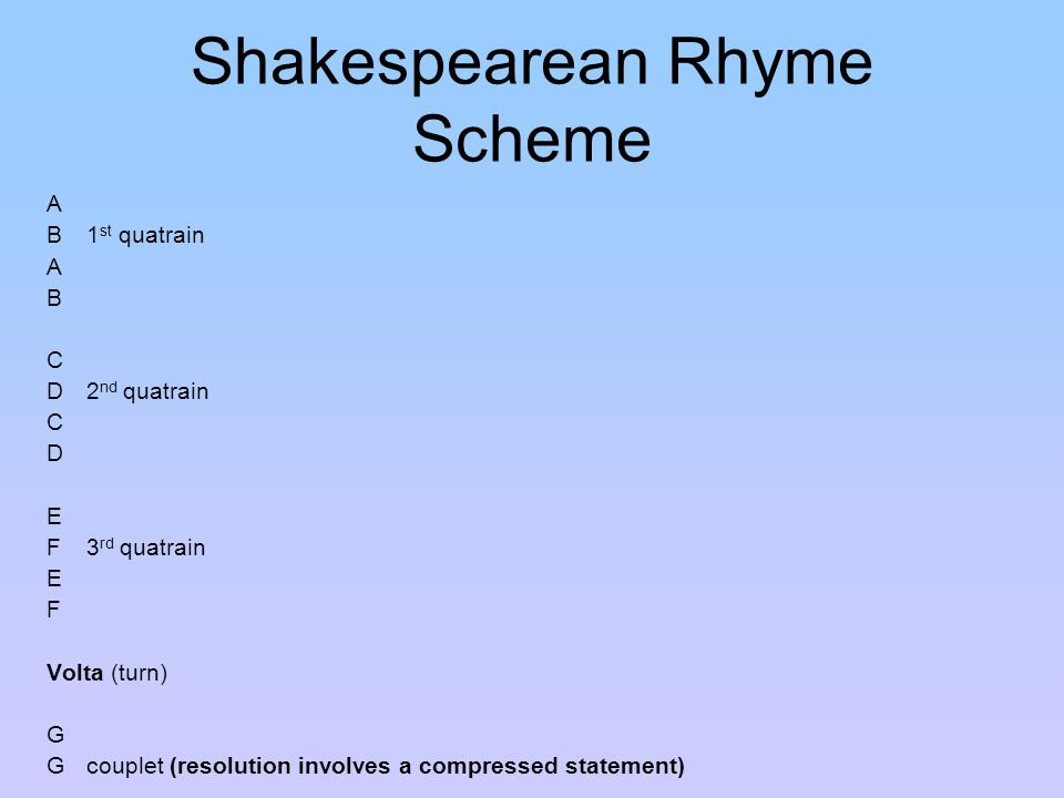 The Sonnet Ppt Download
