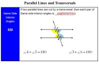 Printable Worksheets  Angles Formed By Parallel Lines Cut ...