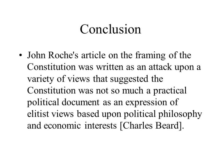 Framing The Constitution Charles A Beard Summary | Framess.co