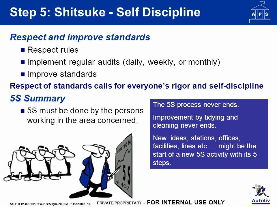 Example Self Improvement Work