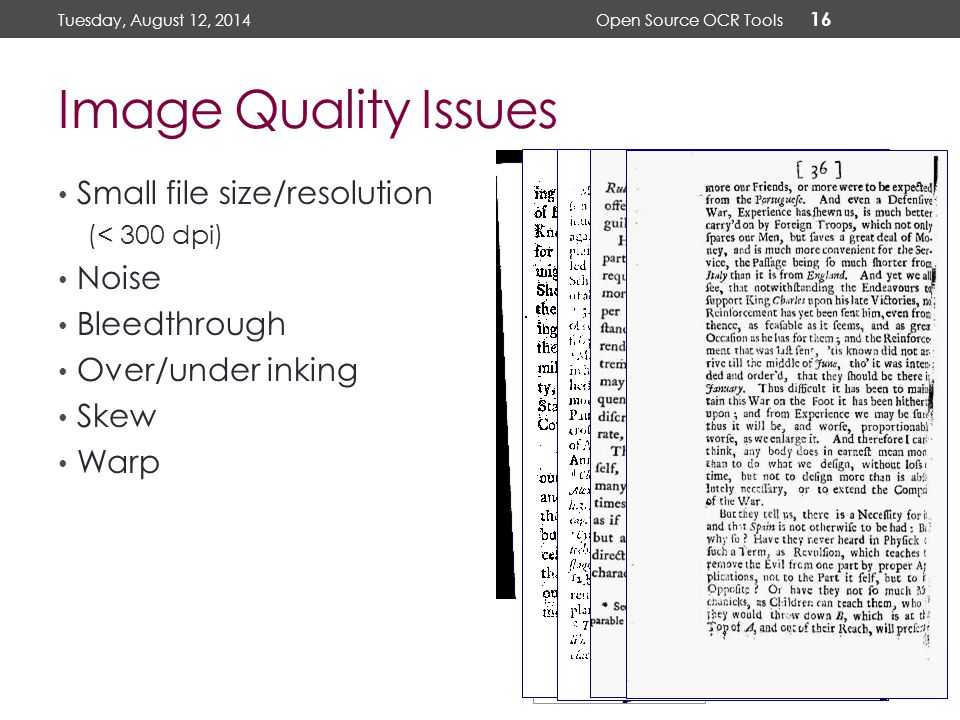 Using Open Source OCR Tools for Digitization Projects