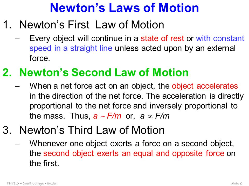 Newton's Second Law Of Motion  Ppt Video Online Download
