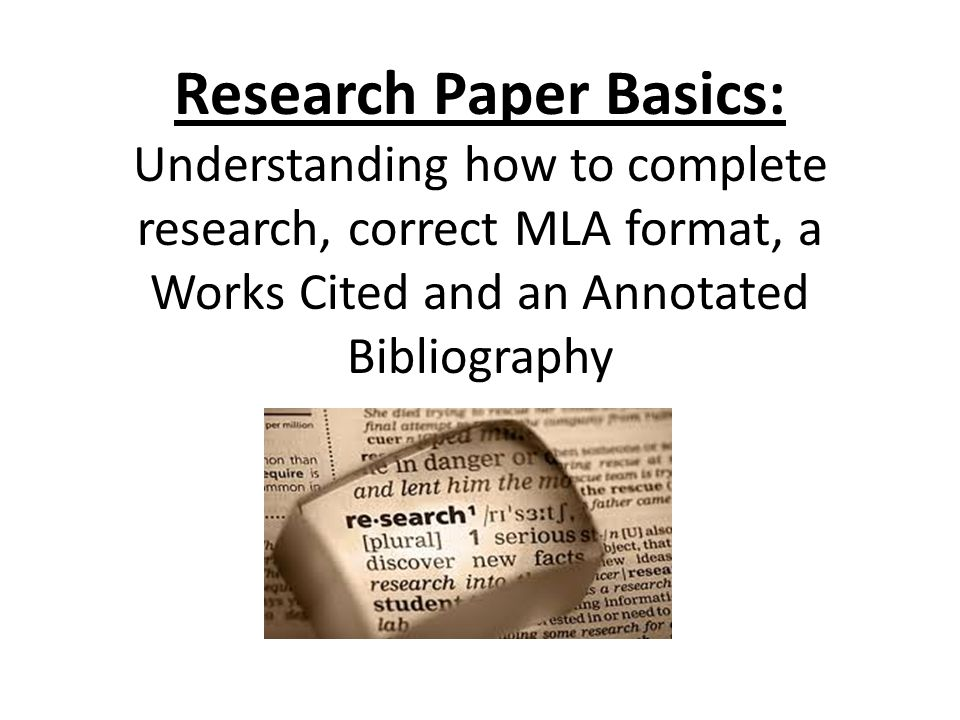 Research Paper Basics Understanding How To Complete Research