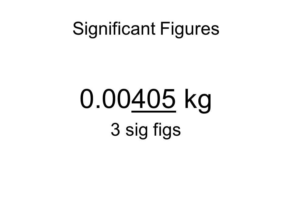 Significant Figures As you learned in a previous tutorial