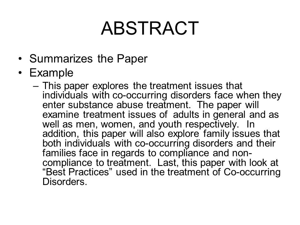 term paper abstract example