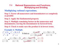 Chapter 7 - Rational Expressions and Functions - ppt video ...
