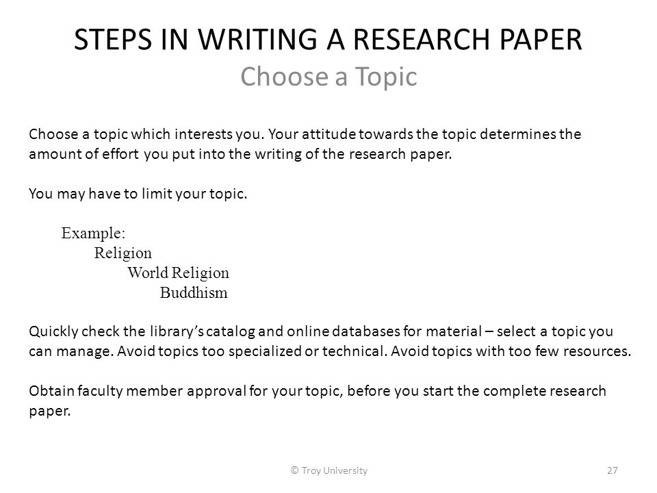 Steps In Doing Library Research Paper