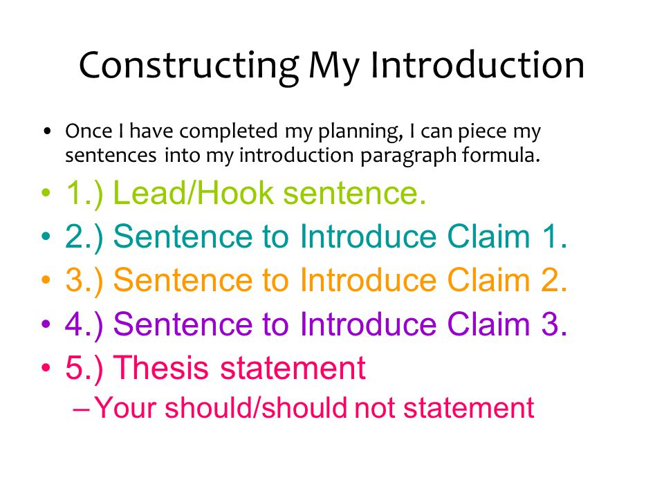 Introductory Paragraphs  ppt video online download