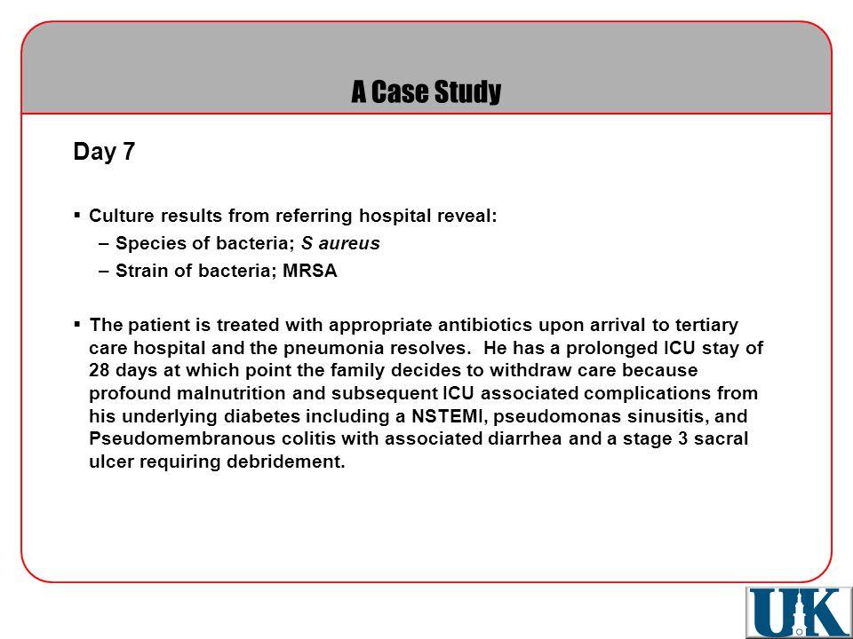 Nursing case study mrsa