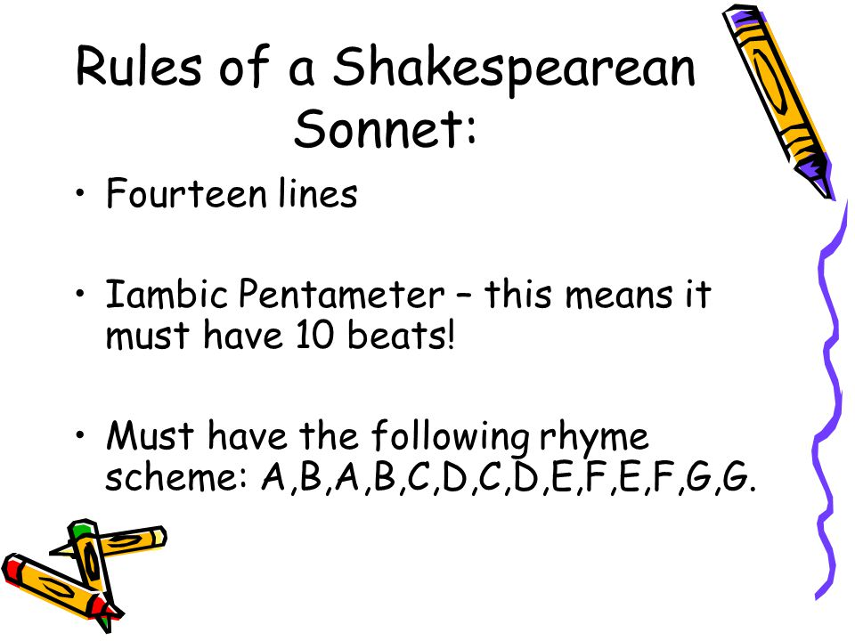 Understanding & Writing Sonnets Ppt Download