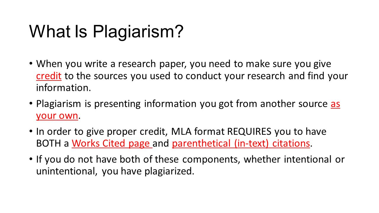 Works Cited Parenthetical Citations And Plagiarism Ppt Video