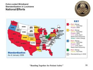Colorcoded Wristband Standardization in Louisiana  ppt download